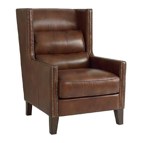 HGTV Home Furniture Collection Upholstery  The Alaine Wing Chair with Transitional Modern Style and Nail Head Trim
