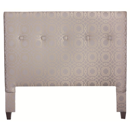 HGTV Home Furniture Collection Upholstery  Queen Size South Beach Contemporary Upholstered Headboard with Button Tufted Accents