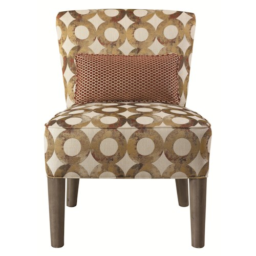 HGTV Home Furniture Collection Upholstery  Contemporary Lucy Armless Chair