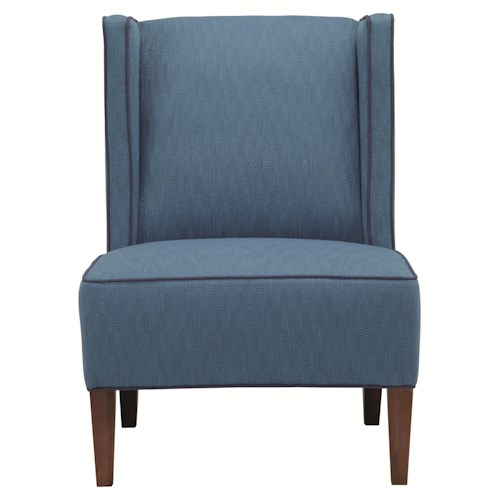 HGTV Home Furniture Collection Upholstery  Jessie Armless Chair with Casual Contemporary Style