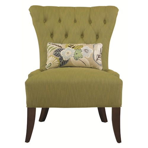 HGTV Home Furniture Collection Upholstery  Josephine Traditional Tufted Back Chair