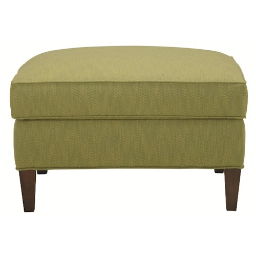 HGTV Home Furniture Collection Upholstery  Contemporary Styled Square Cocktail Ottoman
