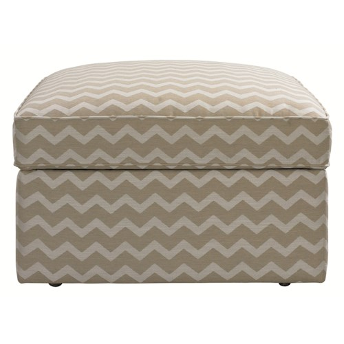 HGTV Home Furniture Collection Upholstery  Contemporary Styled Square Storage Ottoman