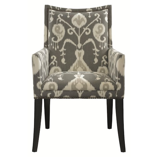 HGTV Home Furniture Collection Upholstery  Upholstered Dining Chair with Arms and Nailhead Trim