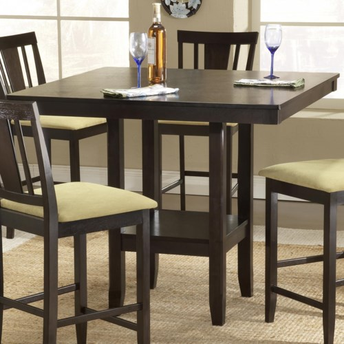 Hillsdale Arcadia Counter Height Table with Lower Shelf