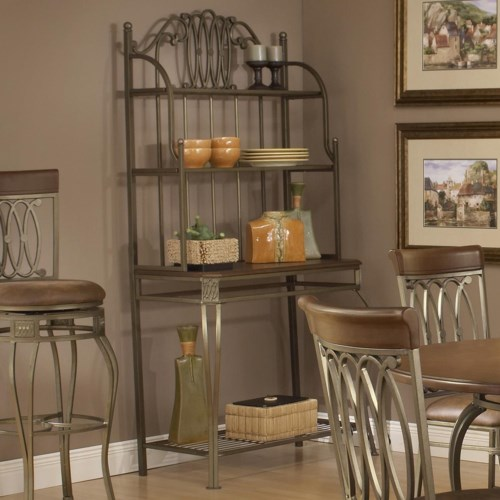 Hillsdale Montello Four Shelf Baker's Rack