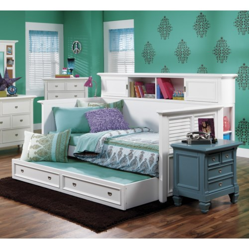 Holland House Belmar Youth Bookcase Day Bed With Louvre