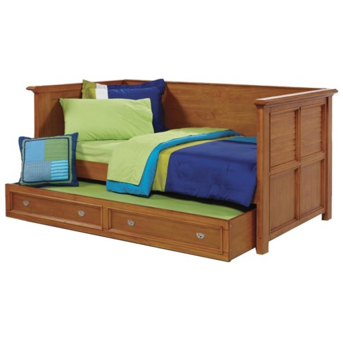 Holland House Belmar Youth Simple Day Bed with Lourve Panels