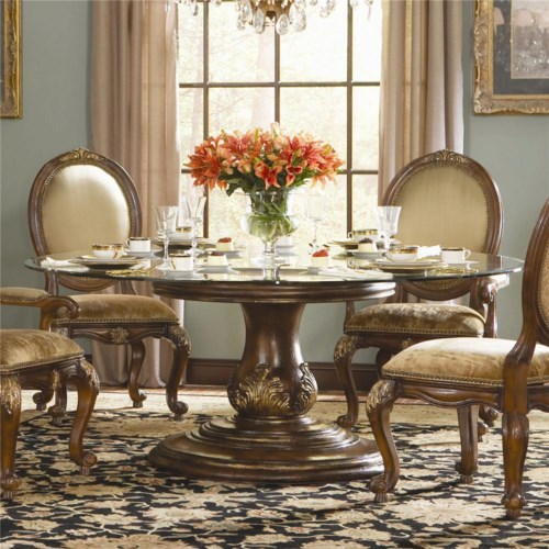 Hooker Furniture Beladora Round Glass Top Dining Table