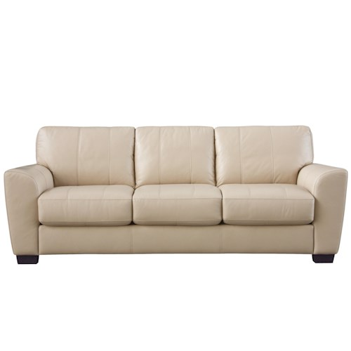 HTL 2852 Queen Sofa Sleeper with Contrast Stitching