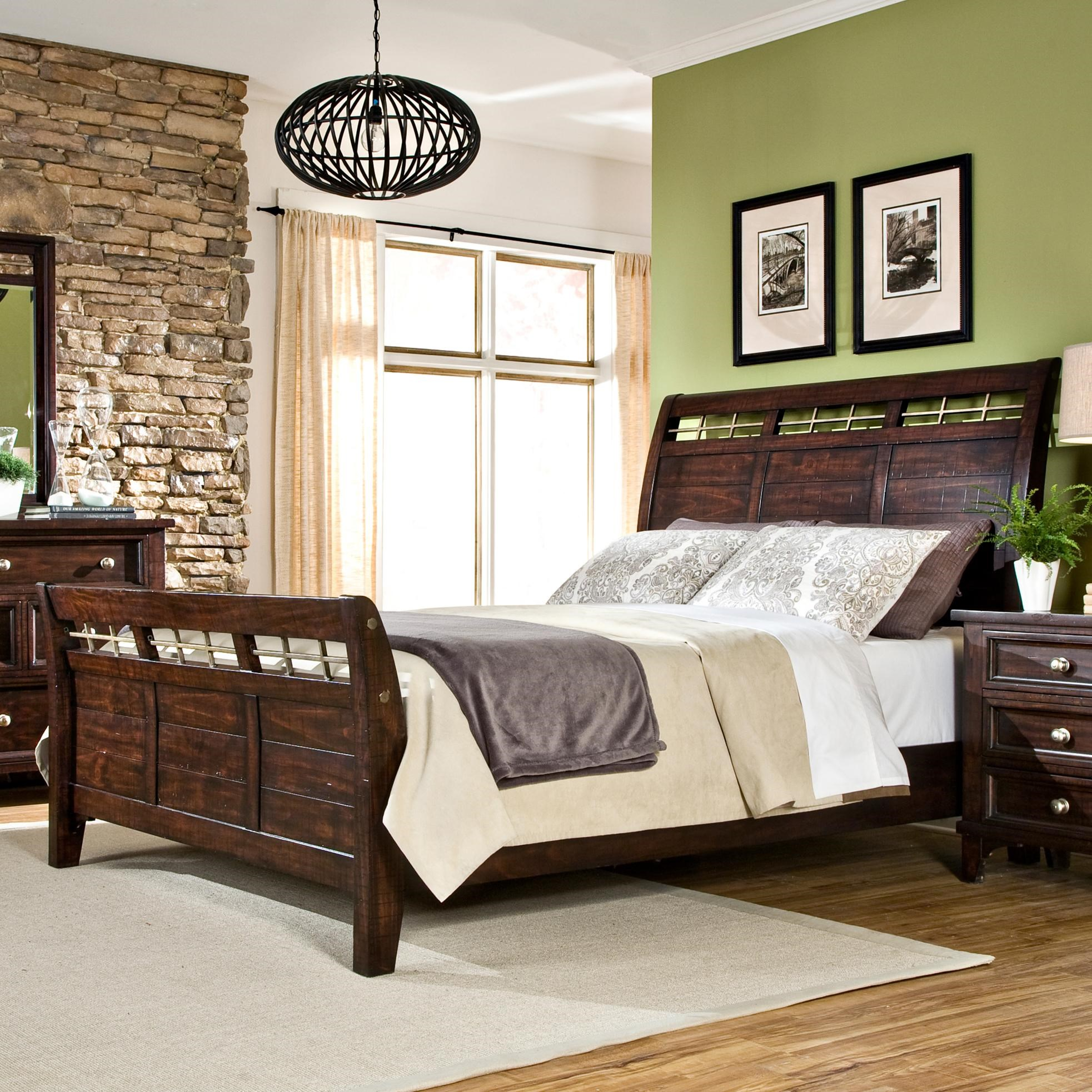 Metal Sleigh Bed King King Sleigh Bed With Metal