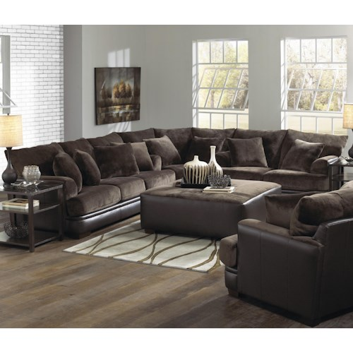 Jackson Furniture Barkley Large LShaped Sectional Sofa With Right Awesome Adcock Furniture Athens Ga Decoration