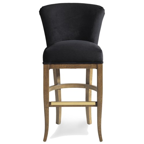 Jessica Charles Fine Upholstered Accents Cameron Memory Upholstered Swivel Barstool