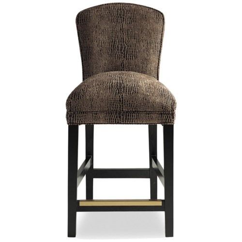 Jessica Charles Fine Upholstered Accents Hattie Memory Upholstered Swivel Bar Stool