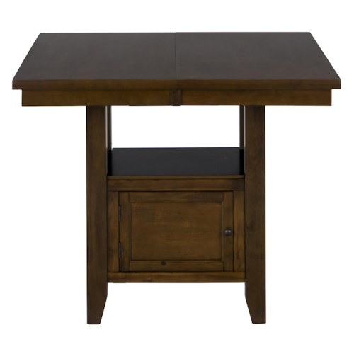 Jofran Taylor Brown Cherry Double Header Storage Counter Table with 2 Doors