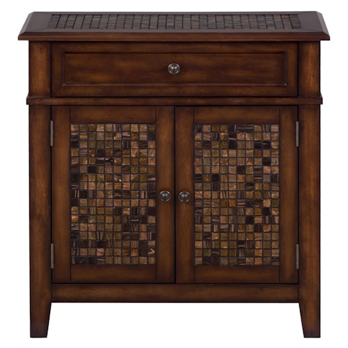 Jofran Baroque Brown Accent Cabinet with Small Scale