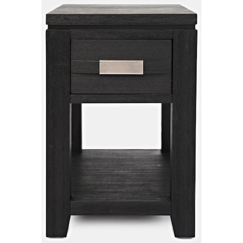 Jofran Altamonte Power Chairside Table with Shelf