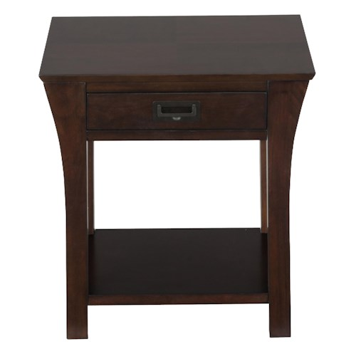 Jofran Artisan End Table with Drawer