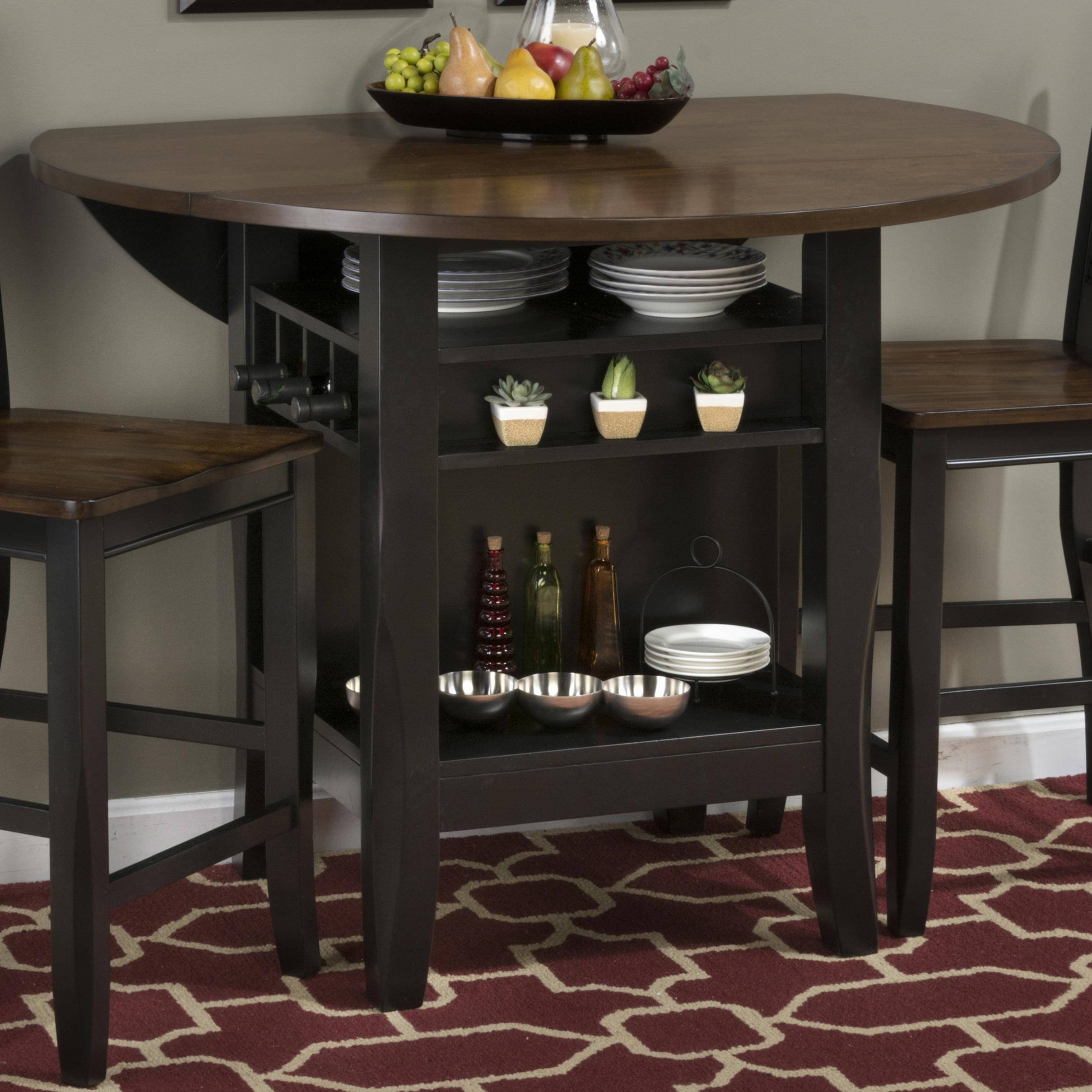 Jofran Braden Birch 48u201d Round Counter Height Table With Drop Down Leaf