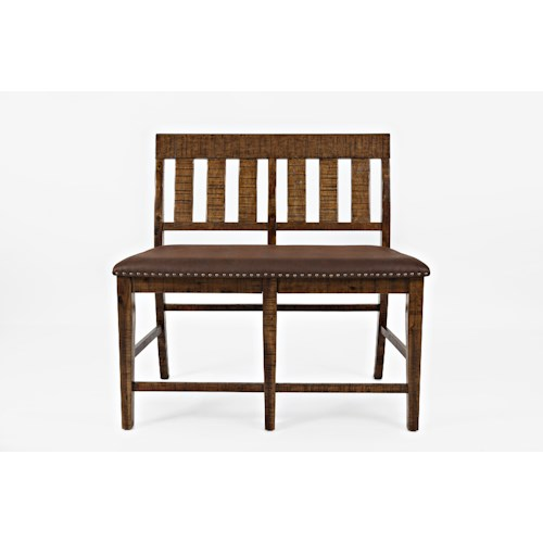 Jofran Cannon Valley Slatback Counter Bench