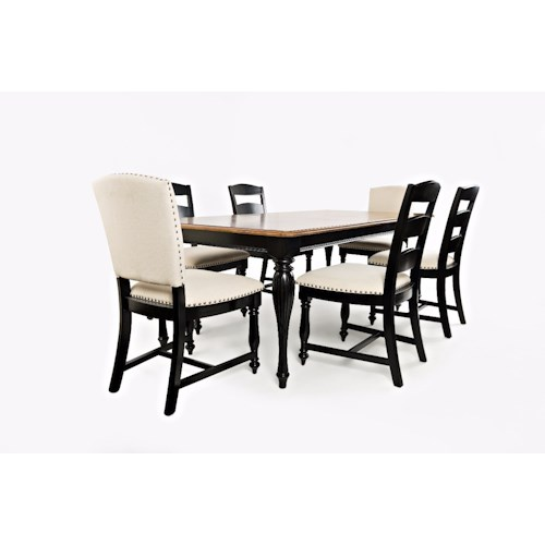 Jofran Castle Hill Rectangle Table and Chair Set