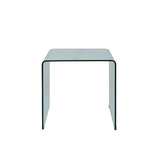 Jofran Clarity Bent Glass End Table