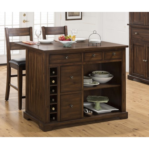 Jofran Cooke County Kitchen Island and Chair Set