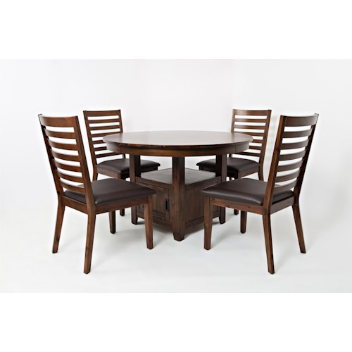 Jofran coolidge corner 48 round highlow table and chair set jofran jofran coolidge corner 48 watchthetrailerfo