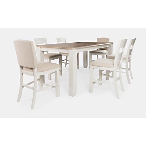 Jofran Dana Point 7-Piece Counter Height Table and Chair Set