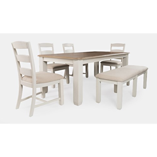 Jofran Dana Point Table and Chair Set with Bench