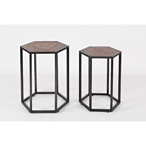 Jofran Flatiron District Two Piece End Table Set