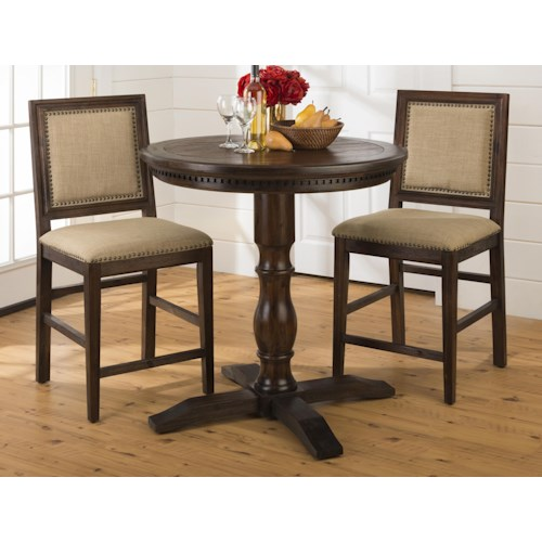 Jofran Geneva Hills Counter Height Bistro Table and Chair Set