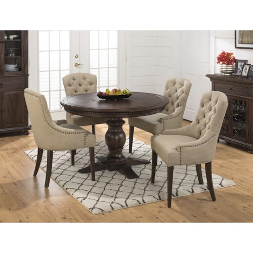 Jofran Geneva Hills Table And Upholstered Chair Set Jofran