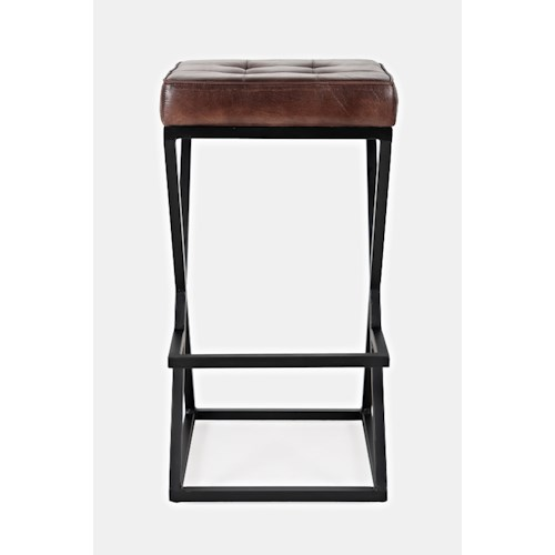 Jofran Global Archive Leather Stool