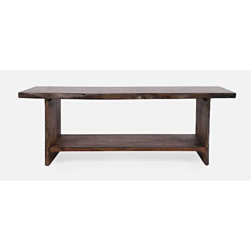 Jofran Global Archive Cooper Live Edge Storage Bench