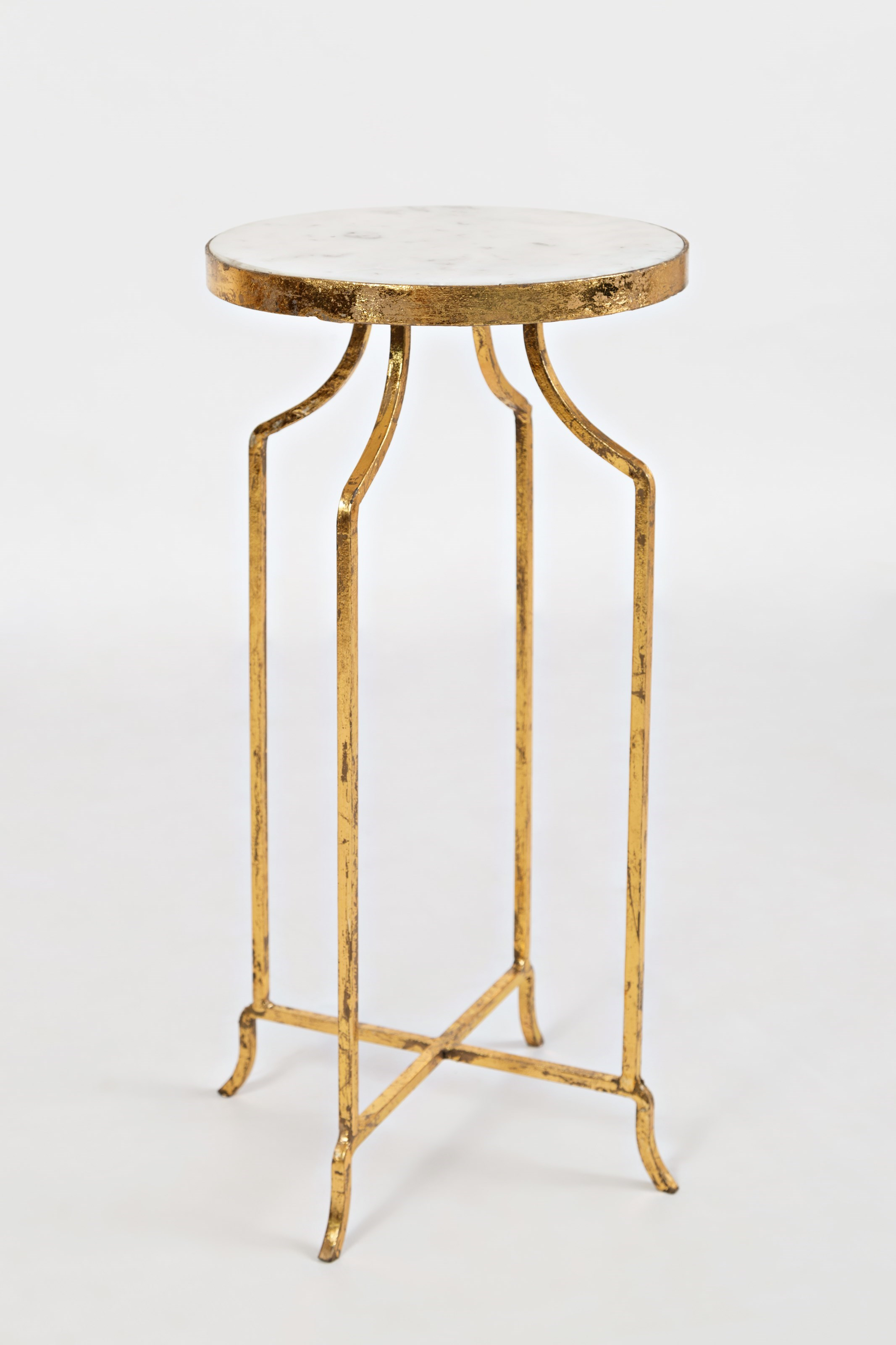 Jofran Global Archive Marble And Golde Round Accent Table