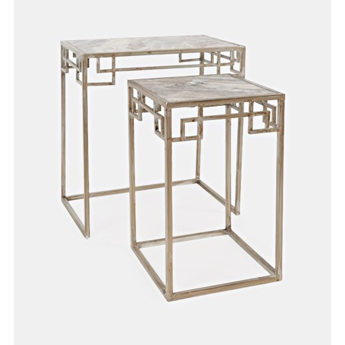Jofran Global Archive Marble Nesting - Set of 2 Small Table