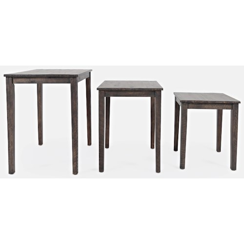 Jofran Global Archive Clark Solid Wood Nesting Tables