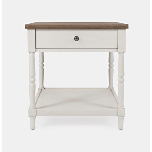 Jofran Grafton Farms End Table with Drawer