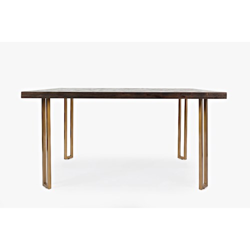 Jofran Gramercy Dark Chevron Dining Table