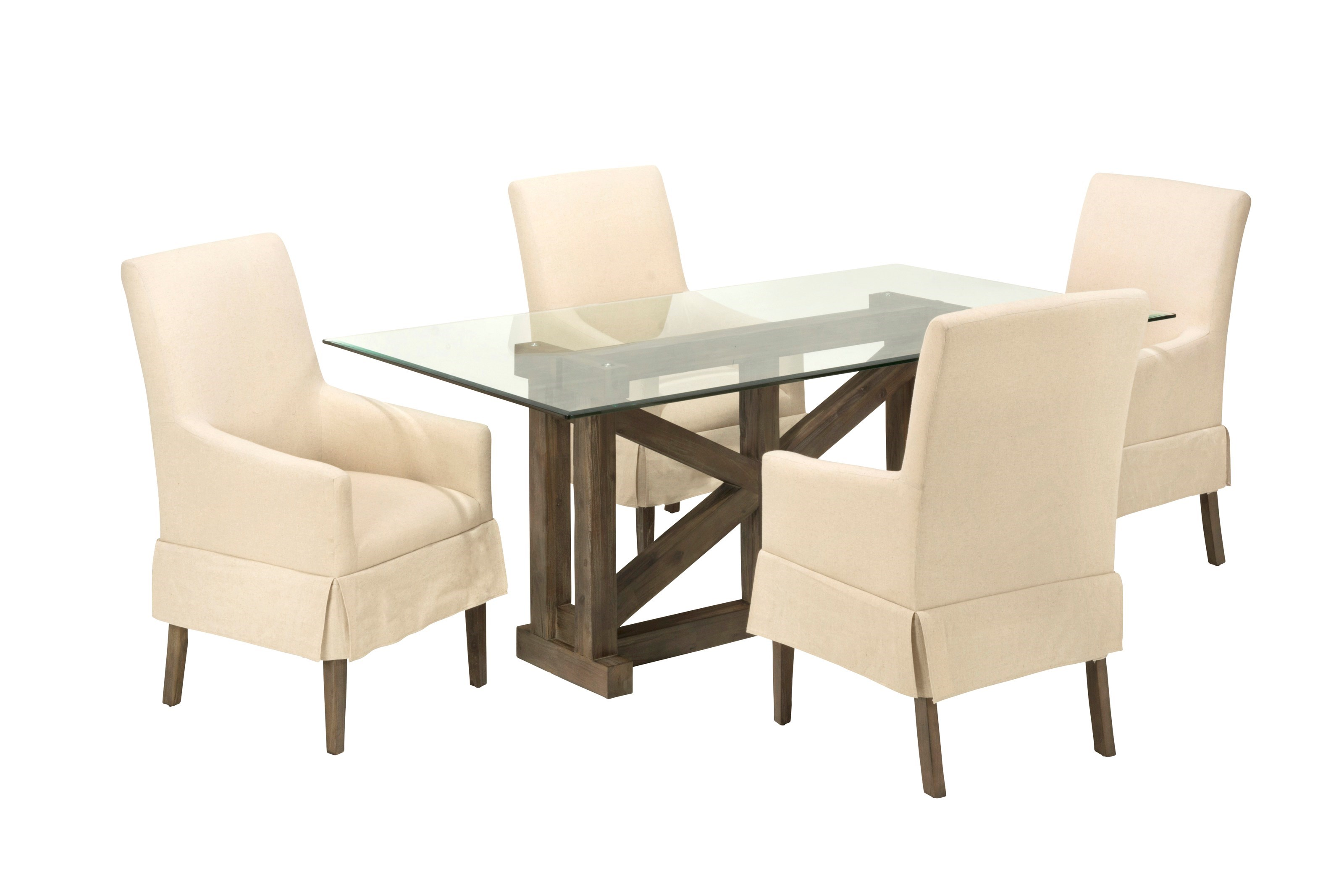 Ordinaire Jofran Hampton Road Glass Top Table With Four Chairs
