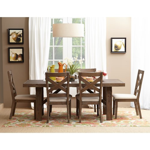 Jofran Hampton Road Trestle Dining Table and Chair Set