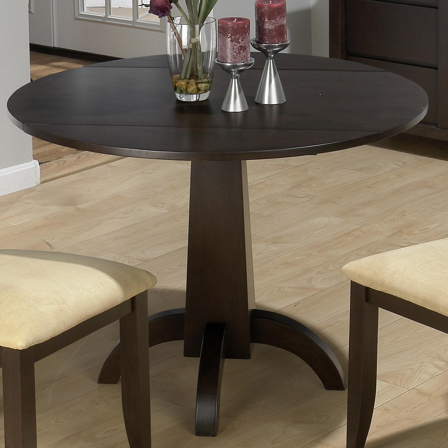 Jofran Dark Chianti Conventional Height Double Drop Leaf Table With Center  Pedestal Base