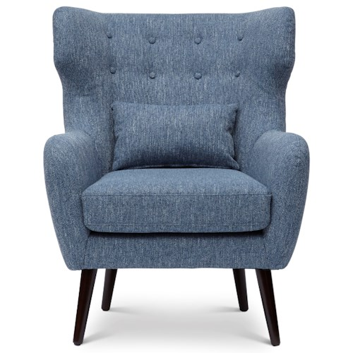 Jofran Easy Living Ava Mid Century Modern Accent Chair