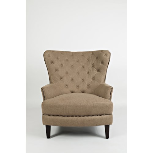 Jofran Easy Living Conner Chair with Tufted Wing Back