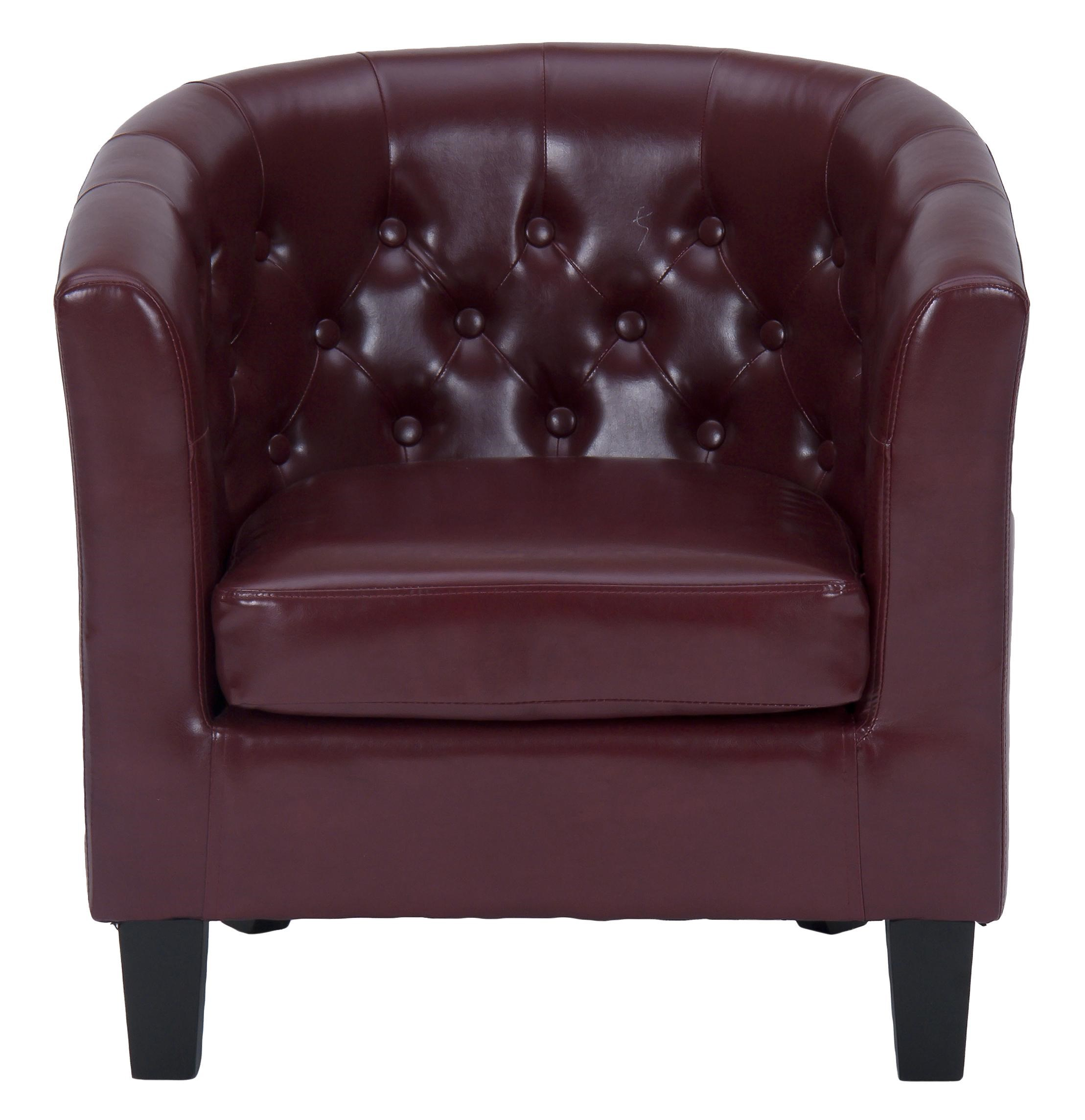 Jofran Easy Living Contemporary Club Chair With Tufted Back