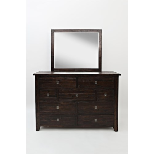 Jofran Kona Grove Dresser and Mirror