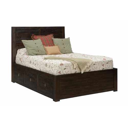 Jofran Kona Grove Queen Storage Bed