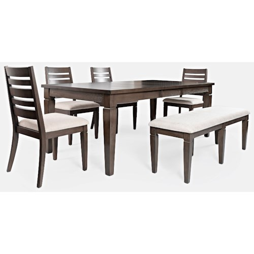 Jofran Lincoln Square Table and Chair Set with Bench