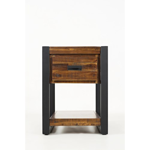 Jofran Loftworks Chairside Table with Drawer